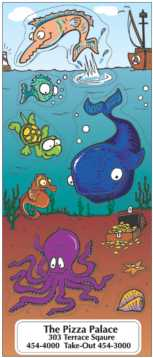 Silly Sea Life cartoon stickers